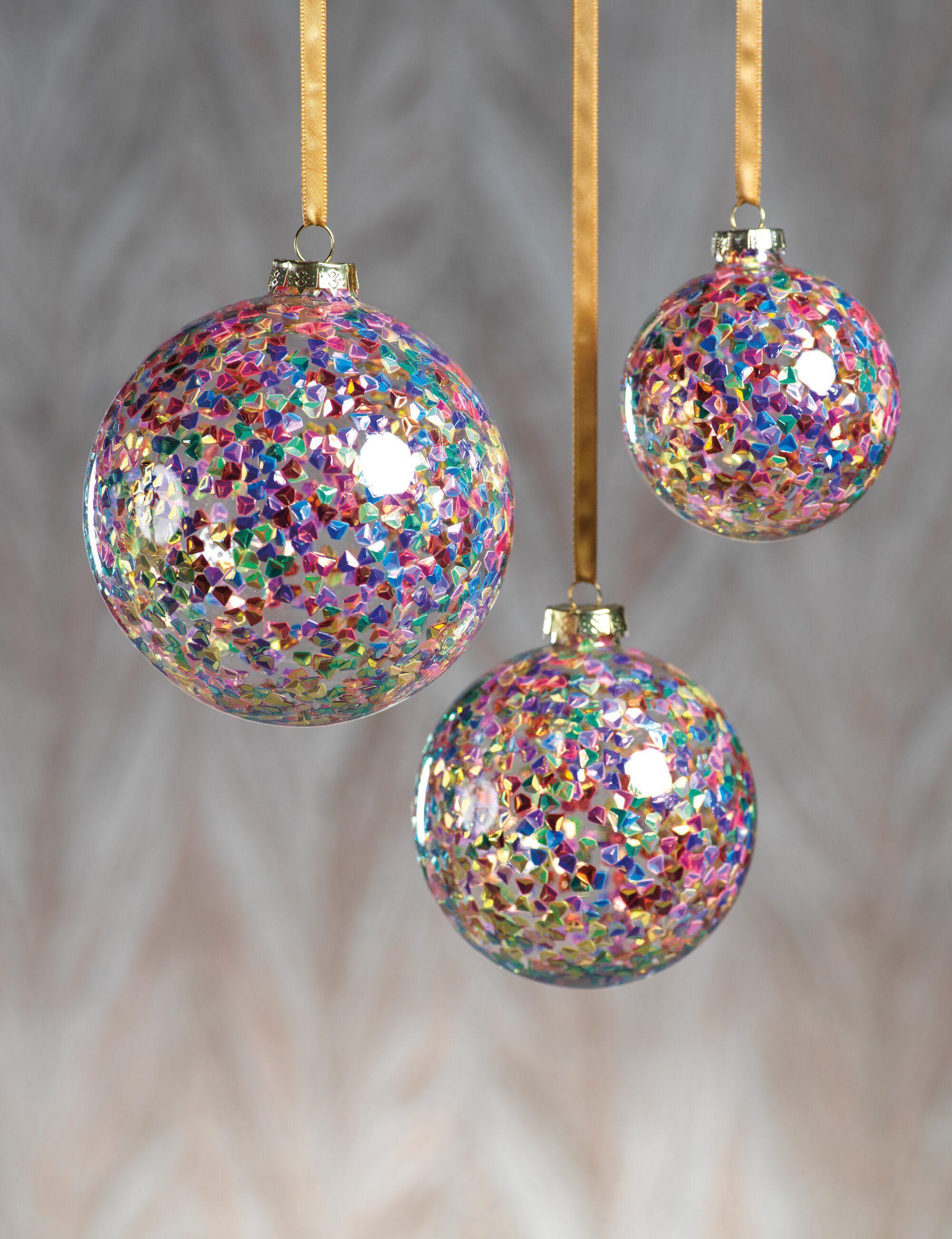 Pentagon Sequin Ball Ornament Pretty Christmas Ornaments Christmas Ball Ornaments Diy Clear Christmas Ornaments