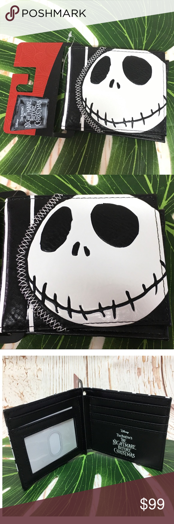Nightmare Before Christmas Wallet Cover Case fit For ... |Slot Nightmare Before Christmas
