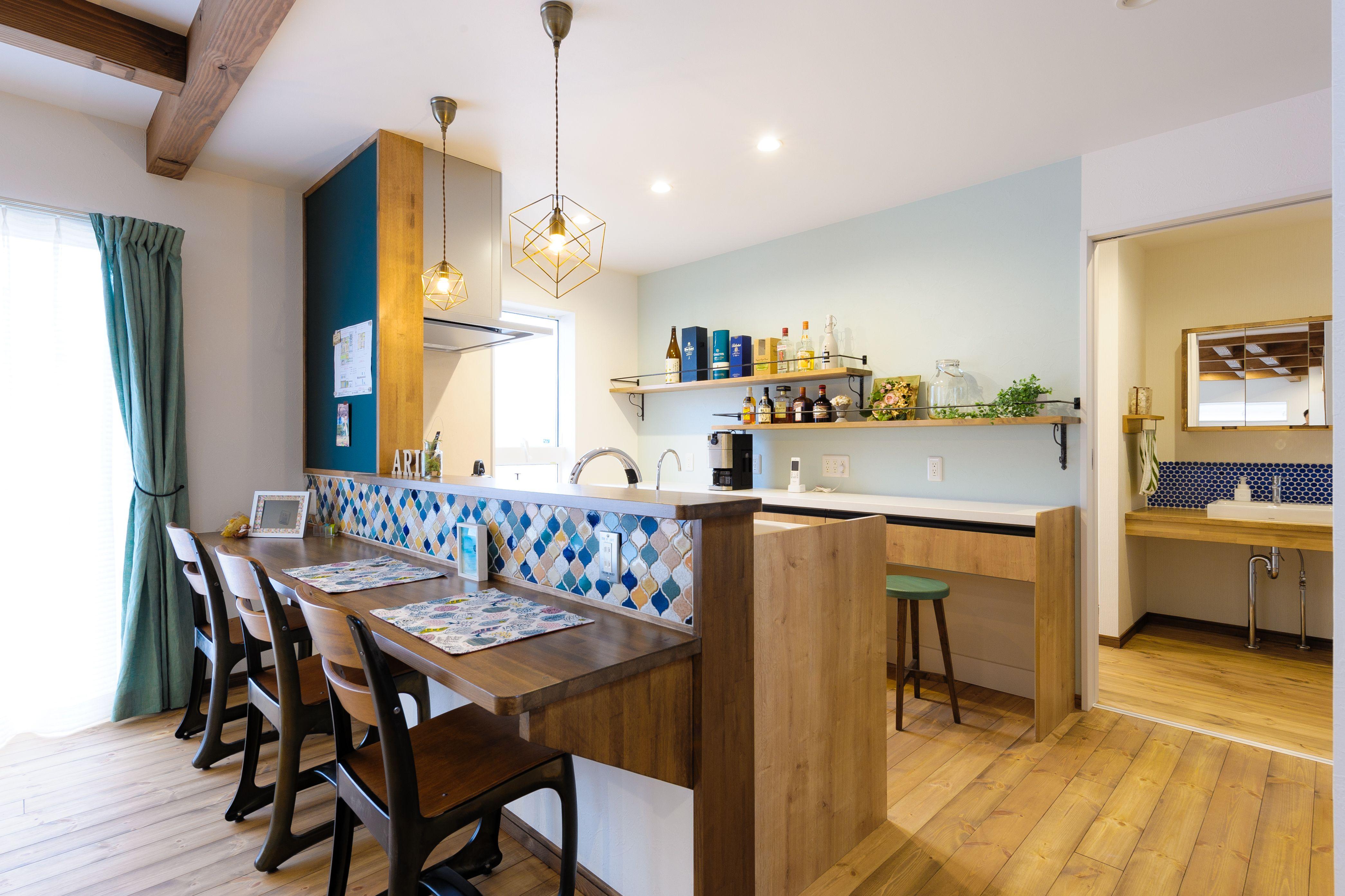 小布施町の注文住宅写真集 収納アイデアが満載 カフェ風の家 収納