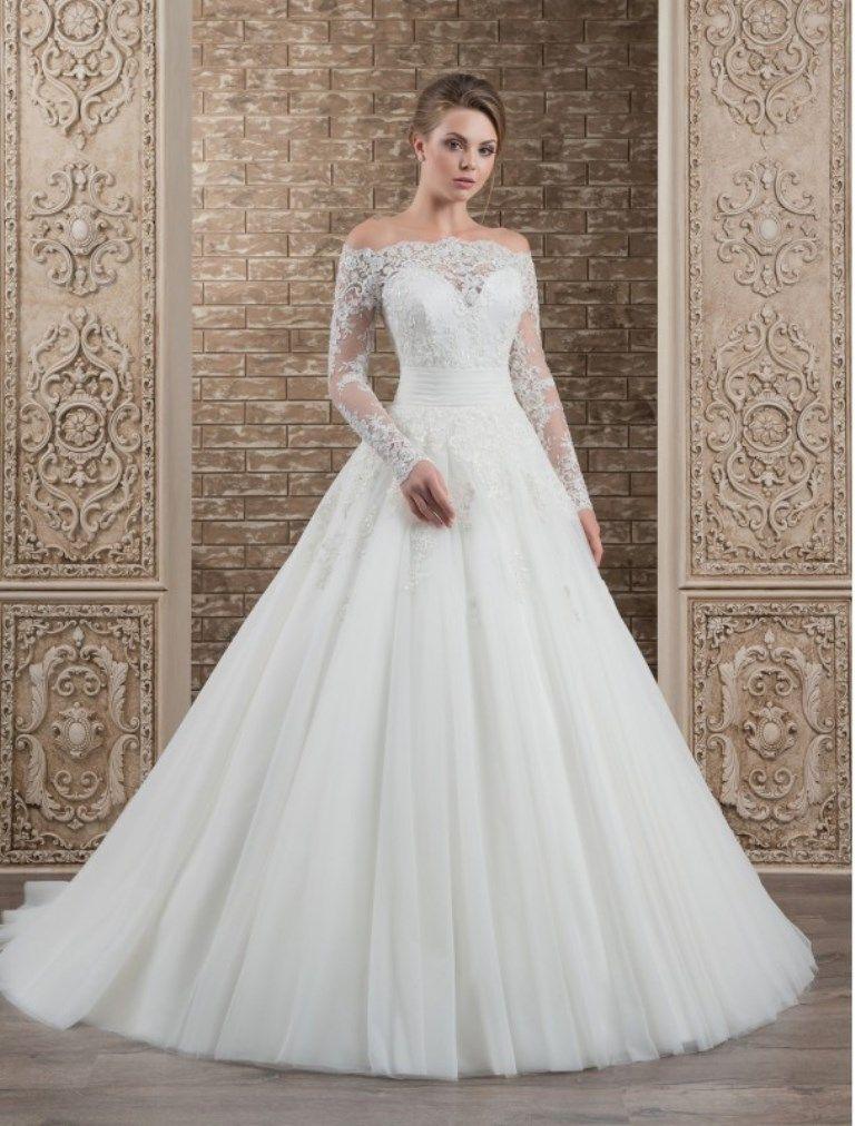 Vestido de Novia blanco manga larga S 357 Meno