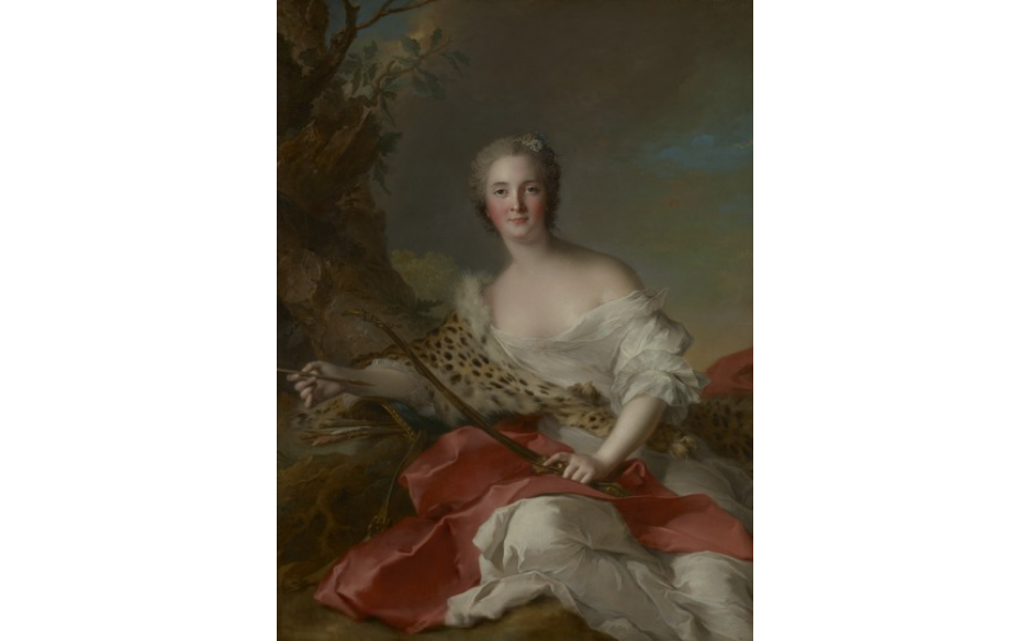 Retrato de Madame Bonnier de la Mosson, hecho por Jean-Marc Nattier en 1742,  ubicado en el Getty Center, Museo de South Pavilion