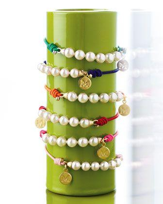 Elastic+Pearl+Bracelet+by+Majorica+at+Neiman+Marcus.