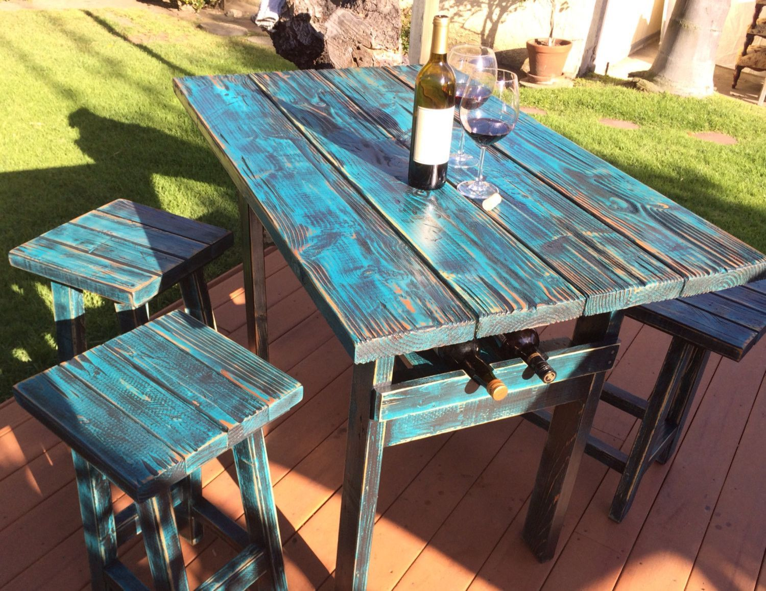 Handmade Rustic Dining Bar Table | Bar, Wine rack and Kitchens