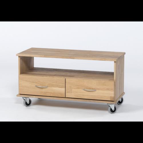 Tv-bord på hjul med 2 skuffer | Tv-borde | Pinterest | Bord, Skuffer y Design