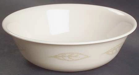 Corelle Textured Leaves Soup Cereal Bowl Lot of 2 Gold Leaves 6 1/4 ...
