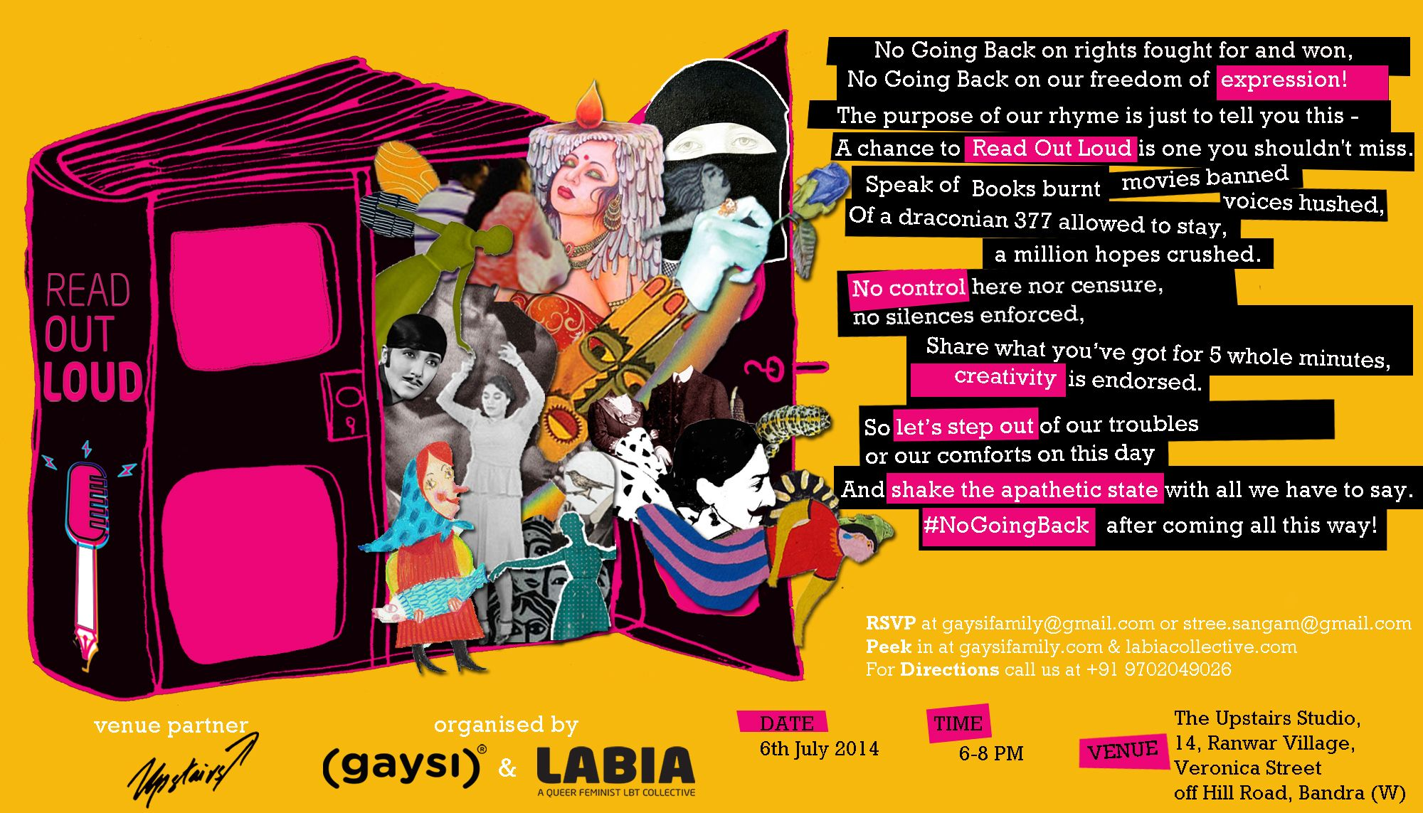 Gaysi and LABIA bring to you another evening of Queer book reading