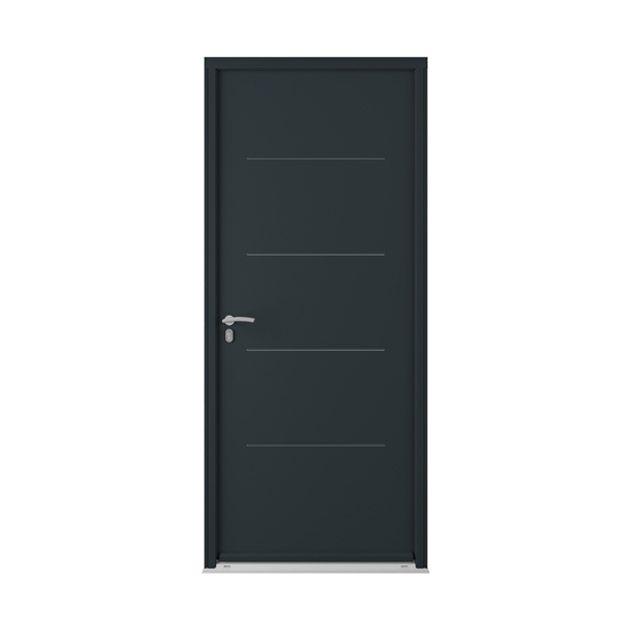 porte d 39 entr e mocka acier lapeyre maison portes. Black Bedroom Furniture Sets. Home Design Ideas