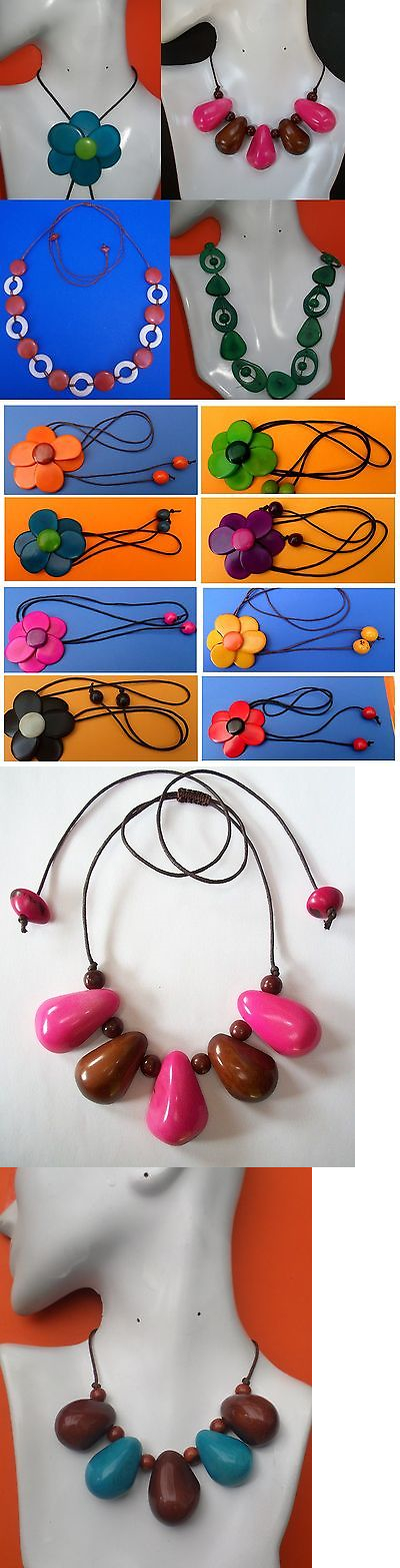 Mixed Lots 64511: 10 Natural Amazon Necklaces Varierty Designs Tagua Tawa Vegetable Ivory Peru -> BUY IT NOW ONLY: $42.5 on eBay!