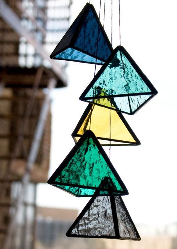 bespokeglasstile s stunning stained glass pyramids bring new meaning