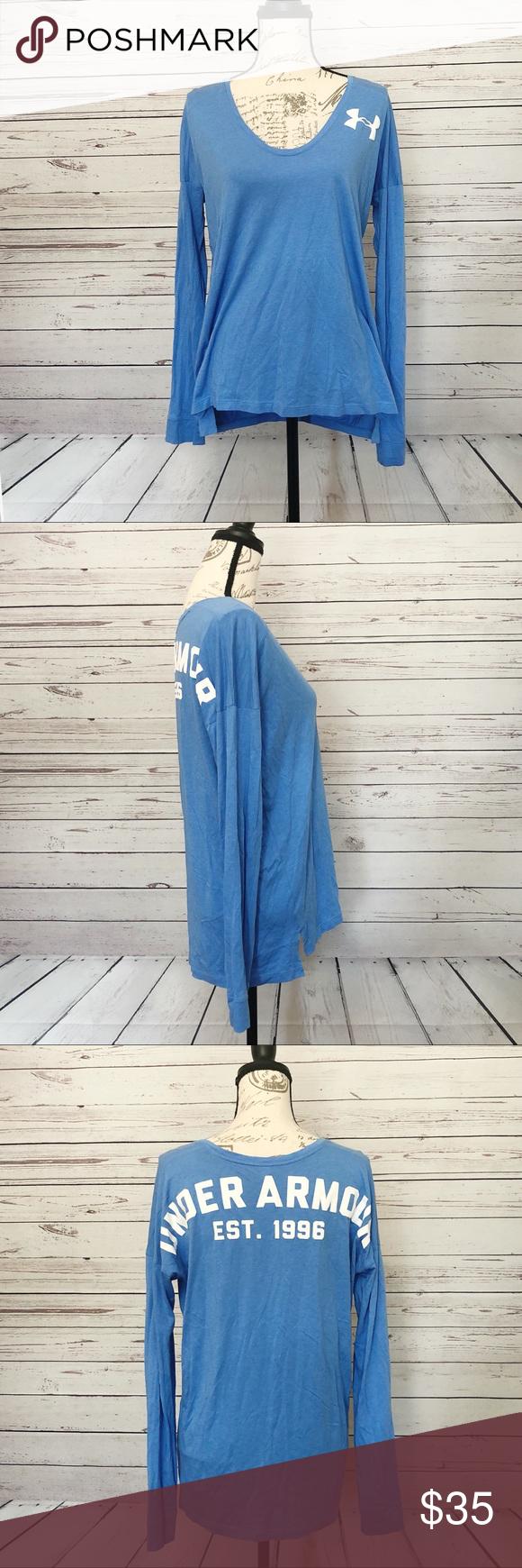 Under armour blue long sleeve tshirt my posh closet pinterest
