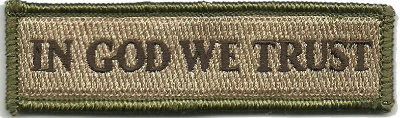 In GOD WE Trust Morale Patches (Back Of Hat)  5906f346208