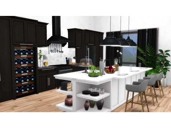 Mina Kitchen Contemporary Shaker Style Kitchen For Ts4 By