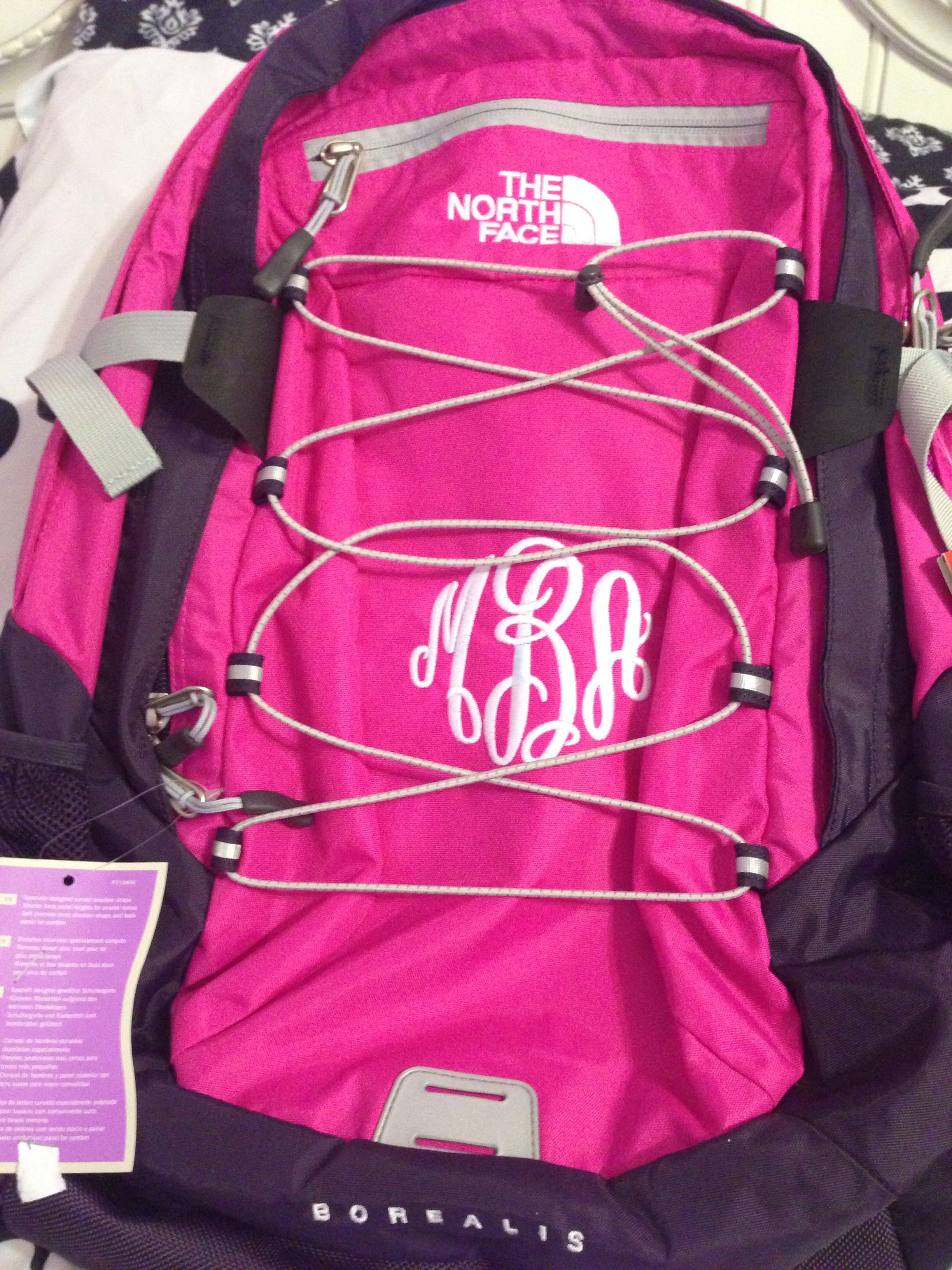 9e898f855 Monogram pink North Face backpack Borealis   Back to school ...