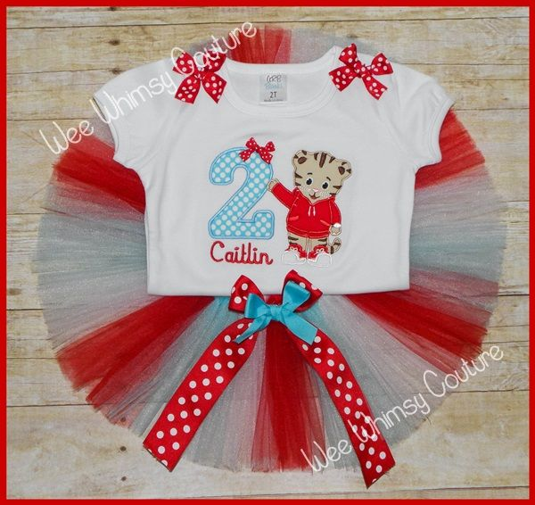 Super Cute Daniel the Tiger Personalized birthday Tutu outfit