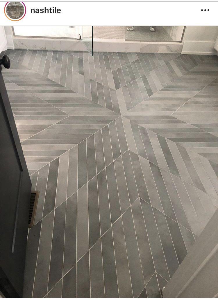Chevron Tile With White Grout Chevron Tiles Floor Chevron Tile Tile Design