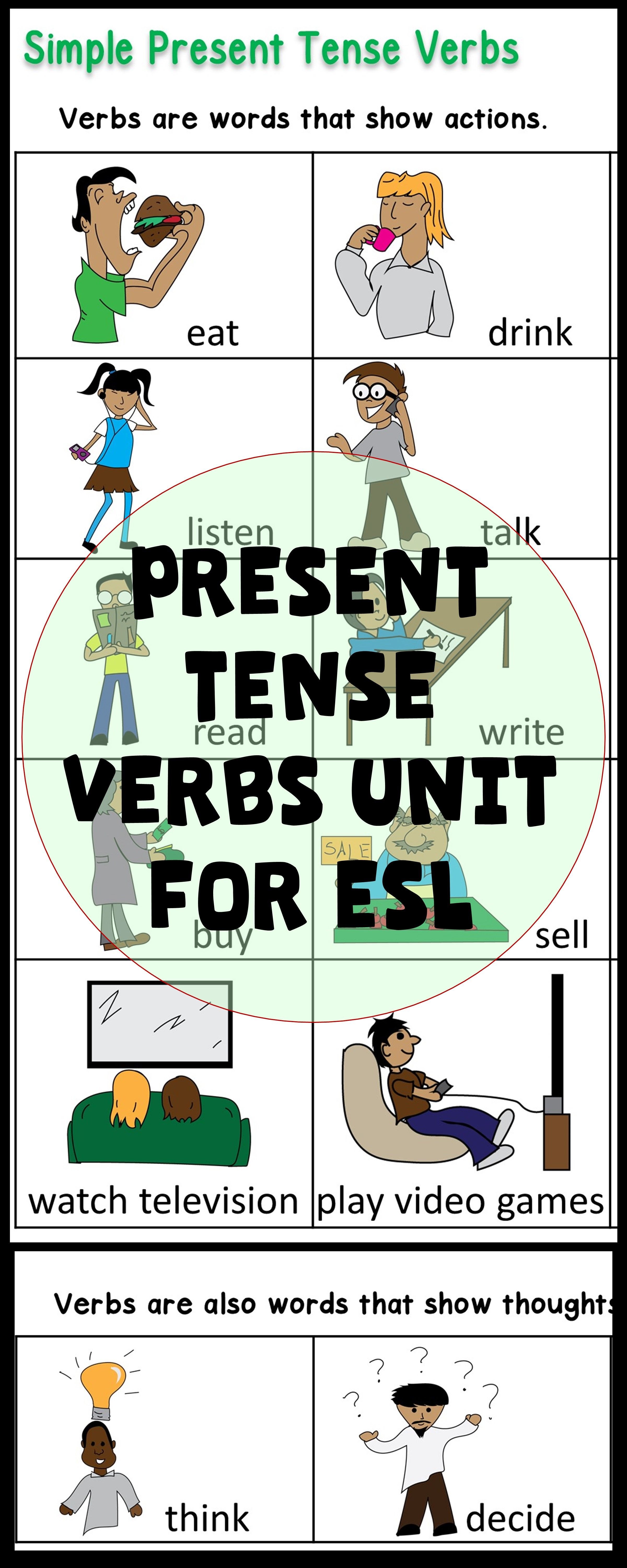 Esl Newcomer Esl Vocabulary Grammar Activities Simple