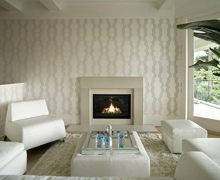 Wohnzimmer Mit Kamin, Schaffung Eleganter Umgebungen.