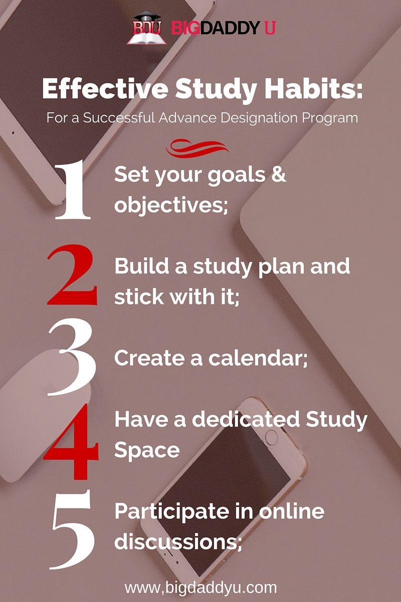 Effective Study Habits For a Successful Advance Designation Program
