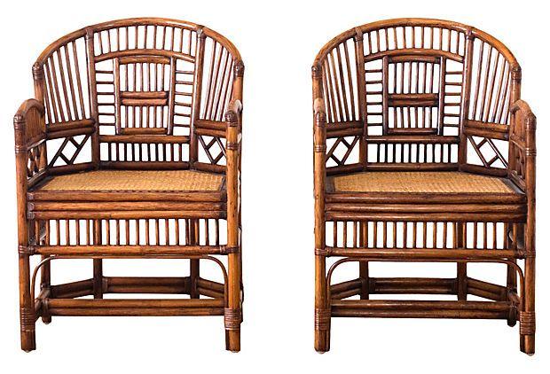 1960s rattan occasional chairs pair on onekingslane com fun