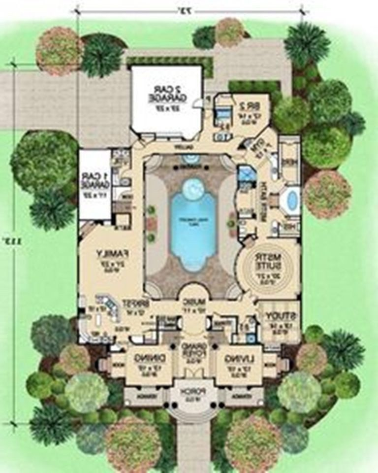 French Modern House Plans Pool Modern Single Story Mediterranean House Plans Home Pool House Plans U Shaped House Plans Mediterranean House Plans