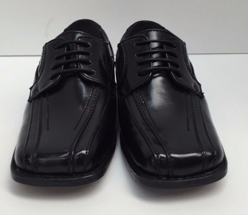 Boys Bolano Black Dress Shoes Laces Size 13 2 5 Man Made Material K5187 000 Boys Dress Shoes Black Dress Shoes Lace Dress Shoes [ 868 x 1000 Pixel ]