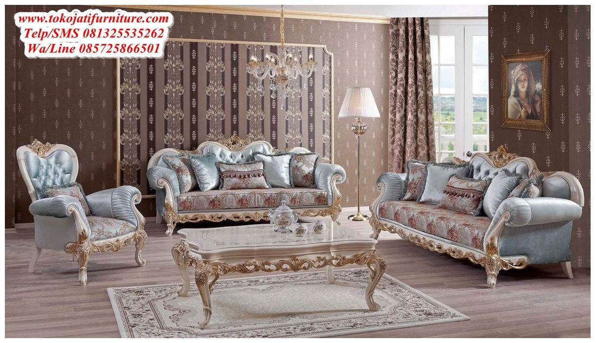 Gambar Kursi Tamu Ukiran Mewah Desain Sofa Tamu Ukiran Mewah
