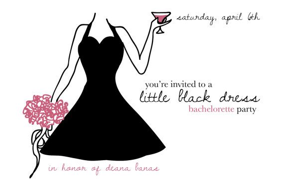 little black dress bachelorette party invites by shelbylynnebaker 2000