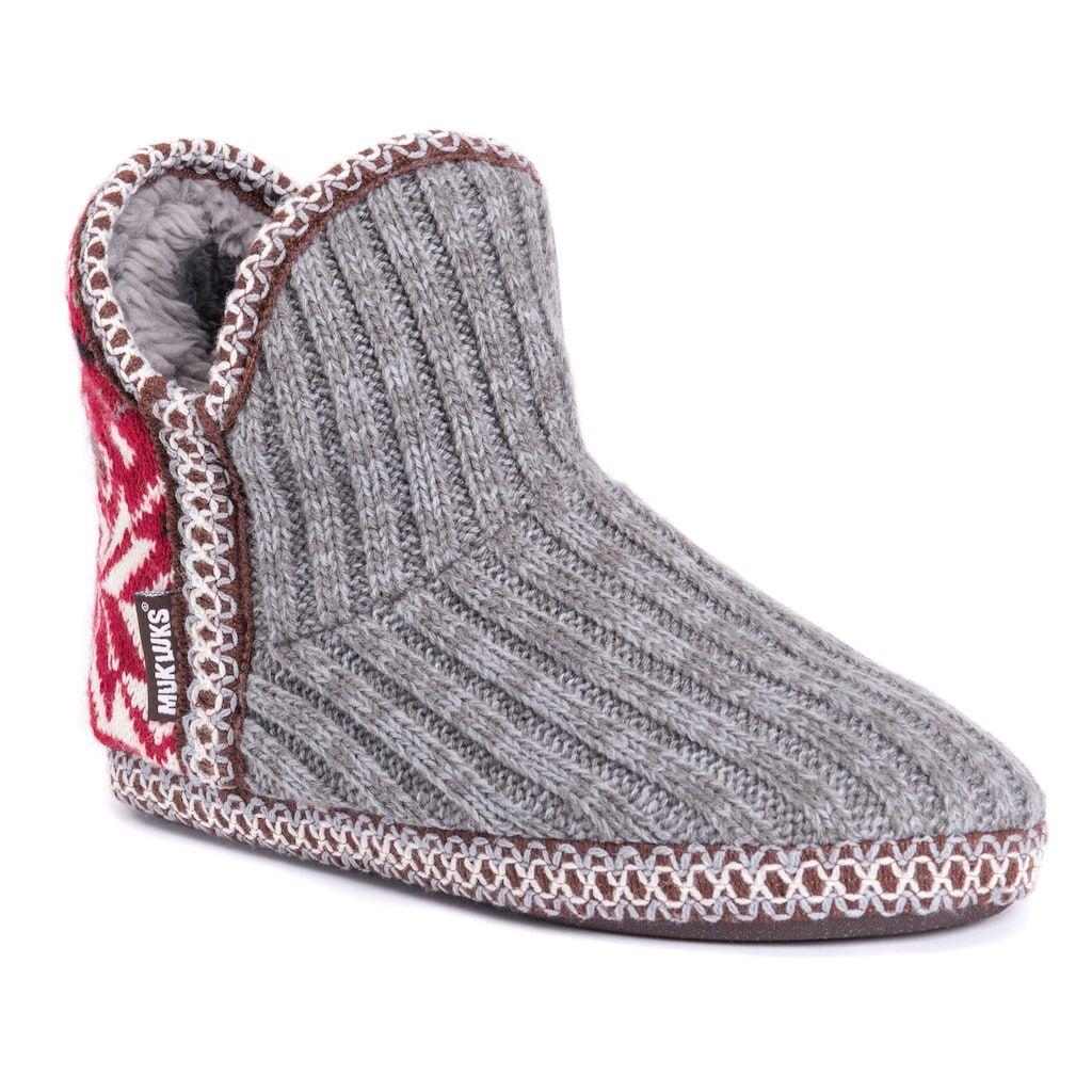 12c3e9861303e Women s MUK LUKS Adraiana Knit Bootie Slippers
