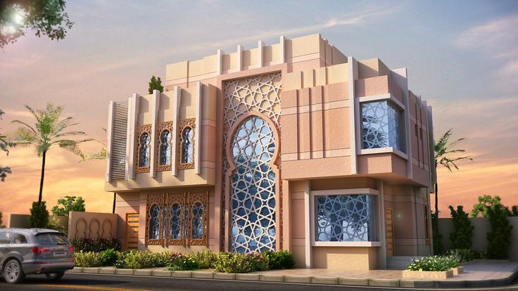 Islamic villa design google elevations for Villa rose riyadh interior design