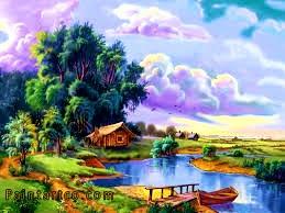 اجمل اللوحات الفنية الطبيعية لوحات فنية زيتية للطبيعة رائعة الجمال لوحات فنية زيتية لمناظر طبيعية بسيطة جميلة جد Cross Paintings Landscape Art Nature Wallpaper