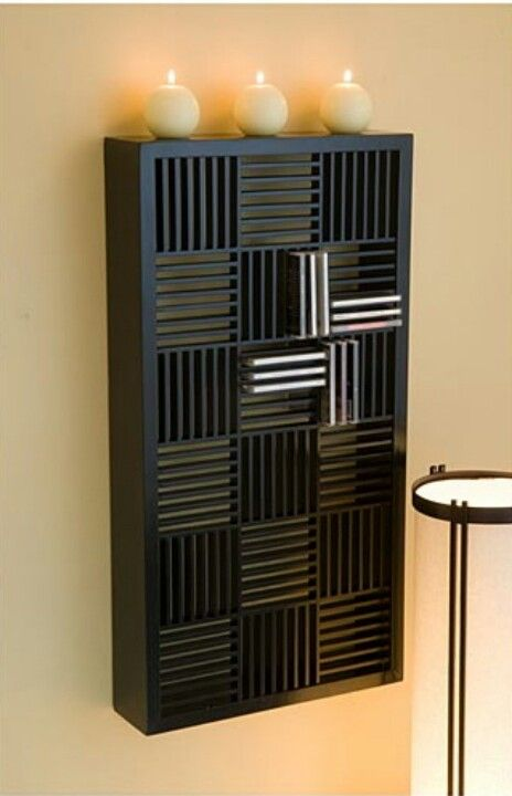 Wall mounted cd holder repisas shelves y for Mueble porta cd