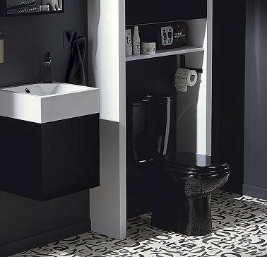Des WC noir une couleur déco pour les toilettes | Wc noir ...