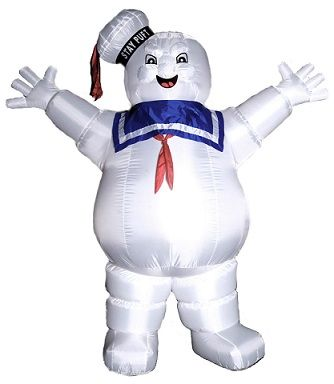 Ghostbusters Inflatable Stay Puft 85 Foot Tall Indoor  Outdoor - outdoor inflatable halloween decorations