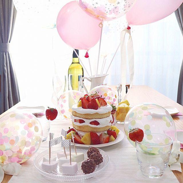 おしゃれで簡単 誕生日の飾り付けアイデア特集 飾り付け 誕生日のアイデア 風船