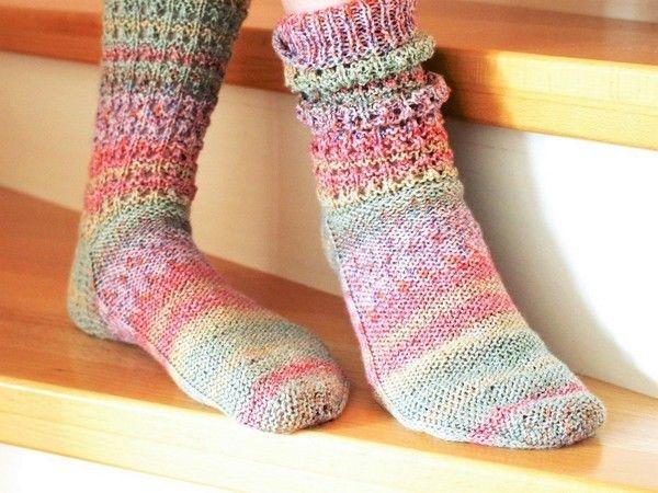 Strickanleitung Socken Anais In Grosse 35 42 Socken Stricken