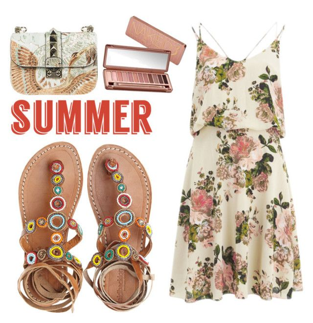 """""""Untitled #27"""" by claudiaelezi ❤ liked on Polyvore featuring Laidback London, Vila Milano, Valentino, Urban Decay and summersandals"""