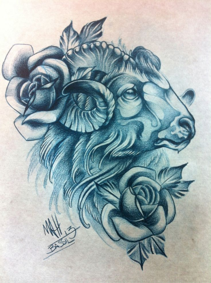 Pin by Boundless with Brandi on Tattoos Ram tattoo