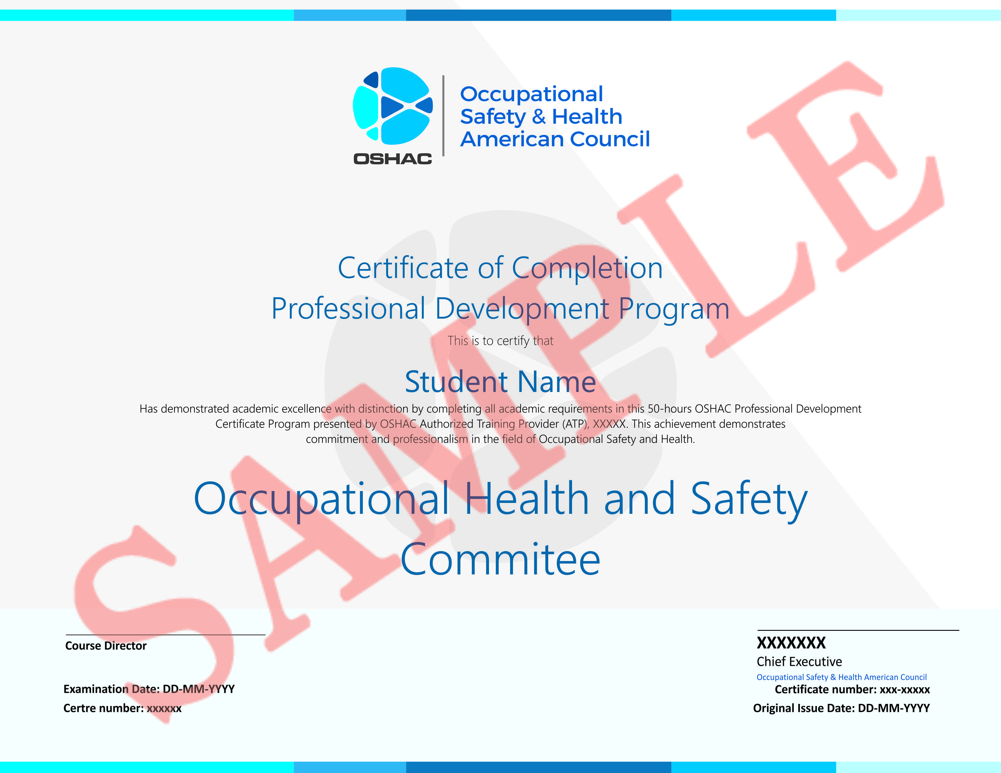 Many states require fully trained safety committee/team