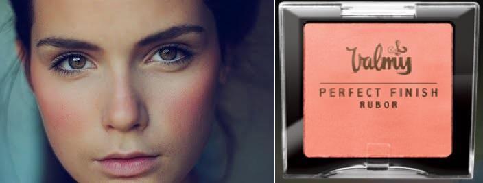 Maquillaje fresco en tonos claros, fácil de lograr con el rubor Perfect Finish de Valmy en tonos Coral o Peach. #Valmy #Maquillaje