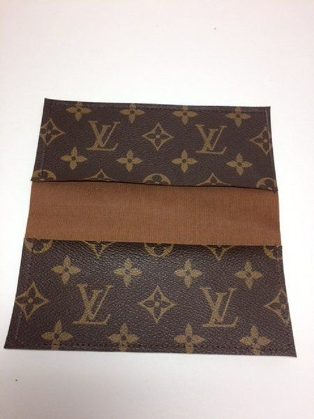 19d34595d430 Louis Vuitton Checkbook Cover - Upcycled LV - Odette