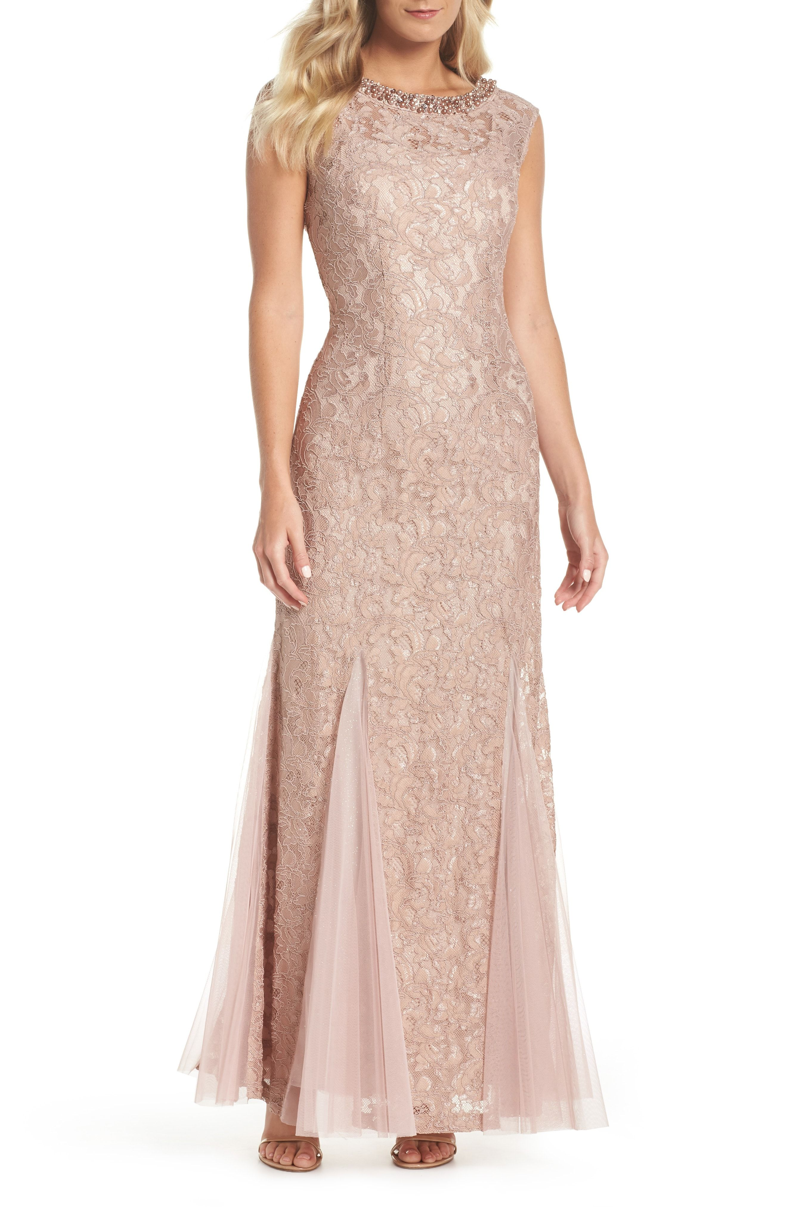 597c0272e69 Neutral lace mother of the bride dress - Alex Evenings Tulle   Lace Gown   affiliate  motherofthebride  motherofthebridedresses  weddings