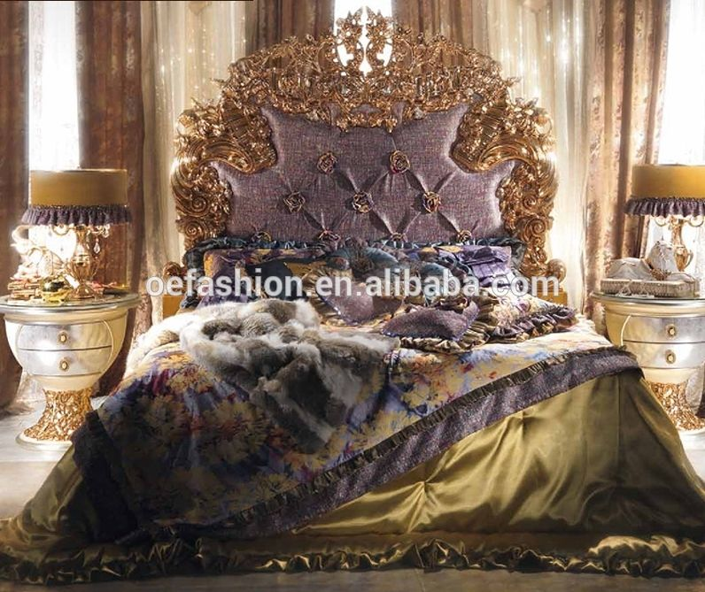Italy Bed Room Furniture Style Antique Luxury Royal Bedroom