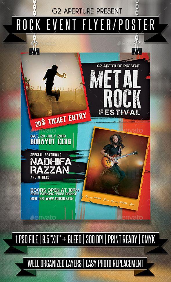Rock Event Flyer / Poster. Event flyer template. #flyer #design #printDesign #alternative #band #club #concert #event #EventFlyer #festival #gig #grunge #indie #music #party #post #PrintTemplate #rock #RockBand #RockFlyer #RockMusic #template #typography #urban