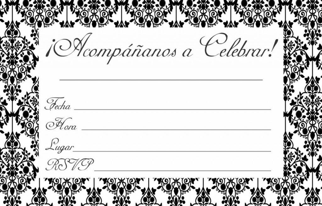 Modelos De Tarjetas De Invitacion Black White Para Imprimir