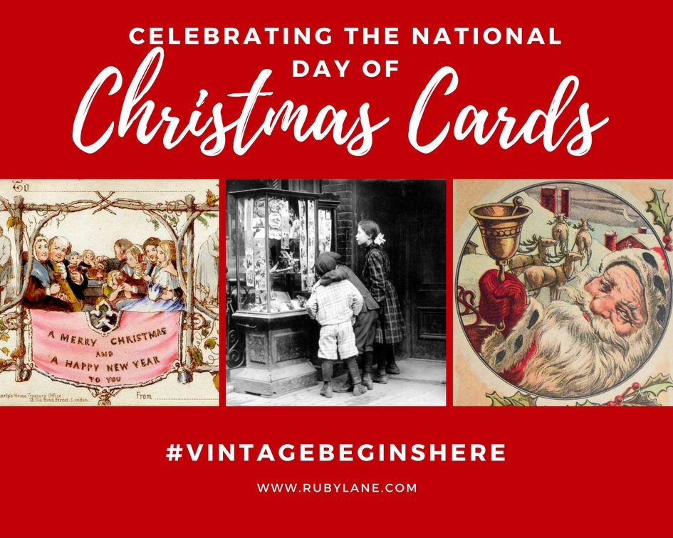 Celebrating National Christmas Card Day with Ruby Lane | Ruby lane