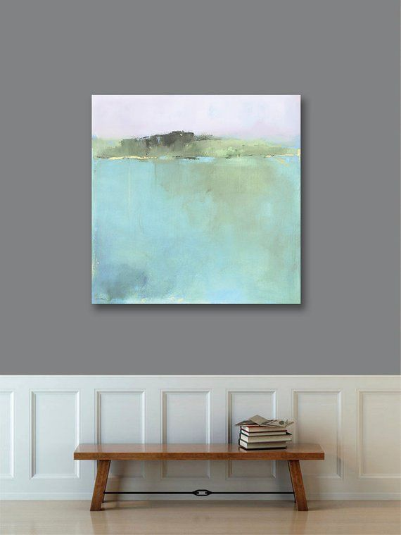 framed minimalist abstract landscape art large canvas print large