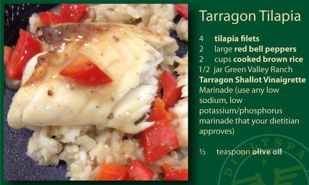 Tarragon tilapia kidney and dialysis friendly recipe card tarragon tilapia kidney and dialysis friendly recipe card forumfinder Image collections
