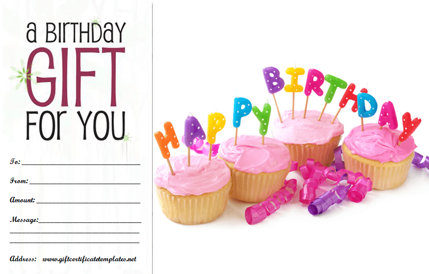 birthday gift certificate templates by wwwgiftcertificatetemplatesnet