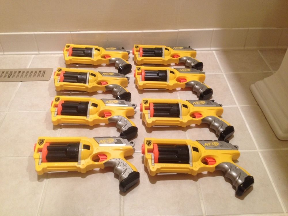Lots of nerf guns including rare large sniper