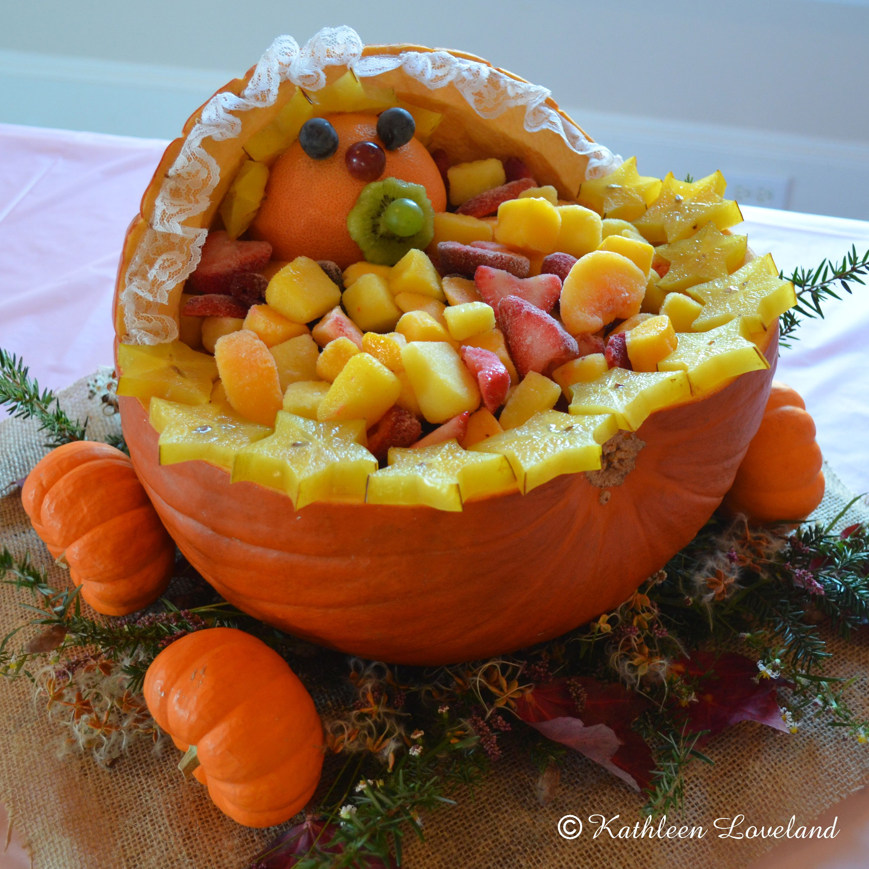 fall pumpkin baby stroller fruit bowl for baby shower, We didn\'t ...